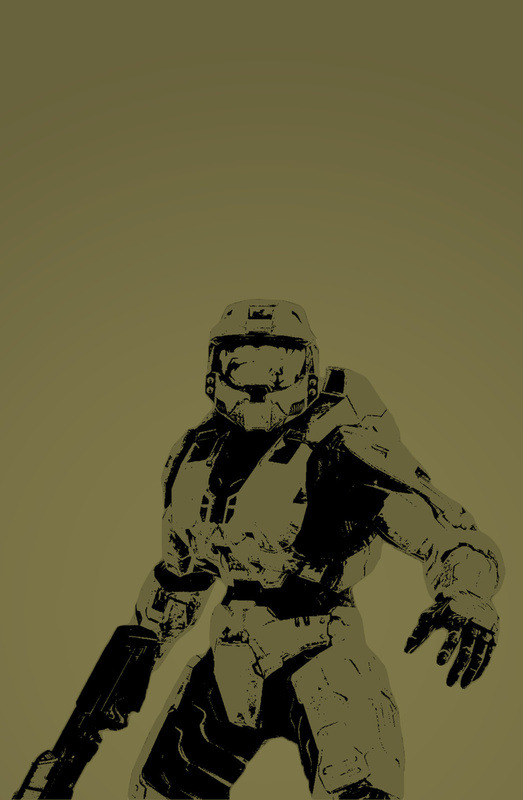 videogamenostalgia:  Master Chief - by Anthony Bellus Available on Society6