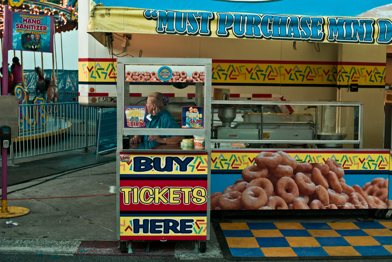 Midway & Donuts. Canadian National Exhibition. August 2011
