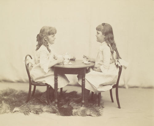 Frances and Ethel de Forest, daughters of Robert de Forest by George Collins Cox, ca 1890