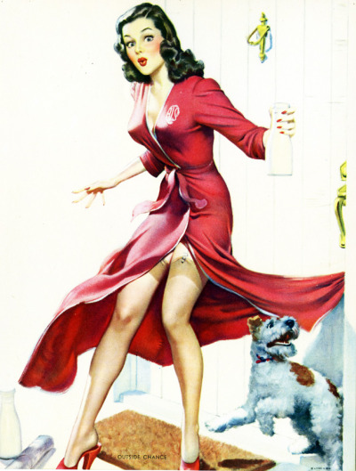 "vintagegal:  ""Outside Chance"" 1940's"