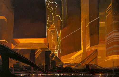Syd Mead's concept artwork for Blade Runner.