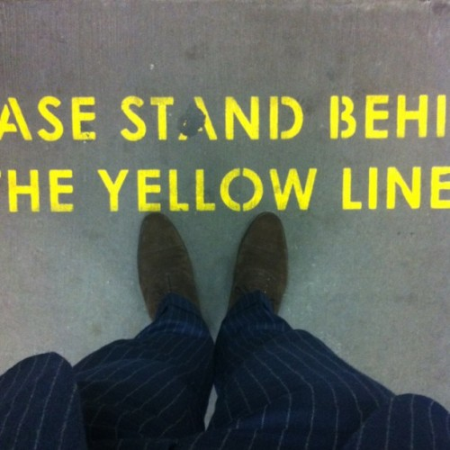 Yellow line? (Taken with Instagram at North Sydney Station)