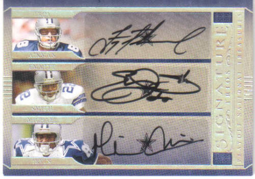 The only autographed cards of the triplets together.  A card so big it couldn't fit in Nate Newton's trunk… What?
