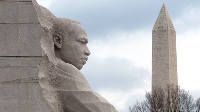 The new MLK statue being built