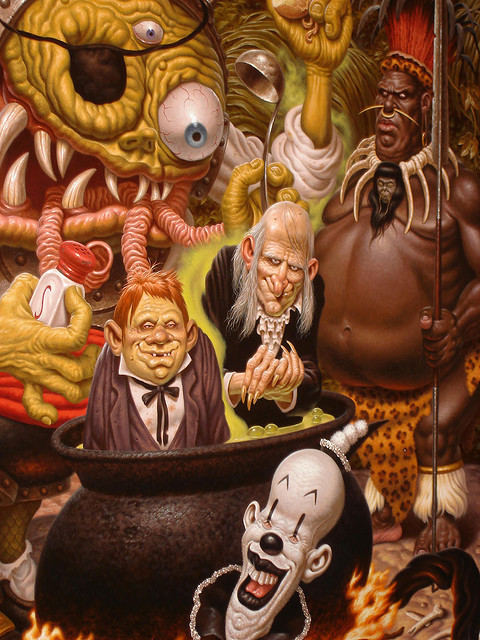 Cousin Eerie, and Uncle Creepy by Todd Schorr