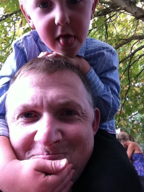 Just about to have my neck broken by the boy…