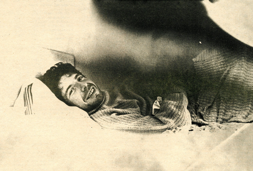 Photo of Leonard Cohen in Rat Subterranean News (1969) Read the interview here