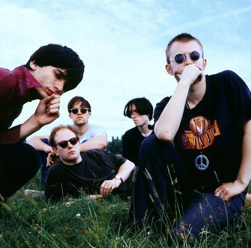 Thom Yorke of Radiohead in a Pixies t-shirt