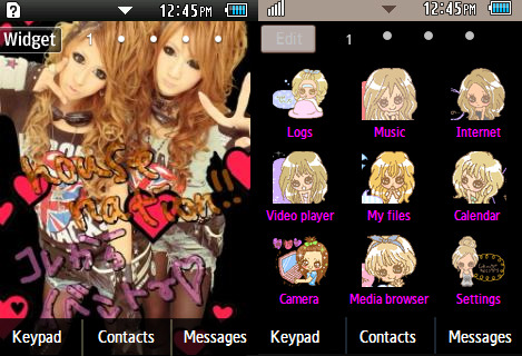 Gyaru/tutuHA black theme for corby II users  Link: http://www.mediafire.com/?owwhhu5lh80wf9t Password: yaptus
