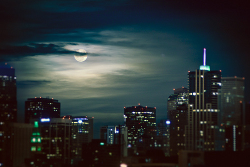 theworldwelivein:  Perigee Moon | Downtown Denver, Colorado© Armando Martinez