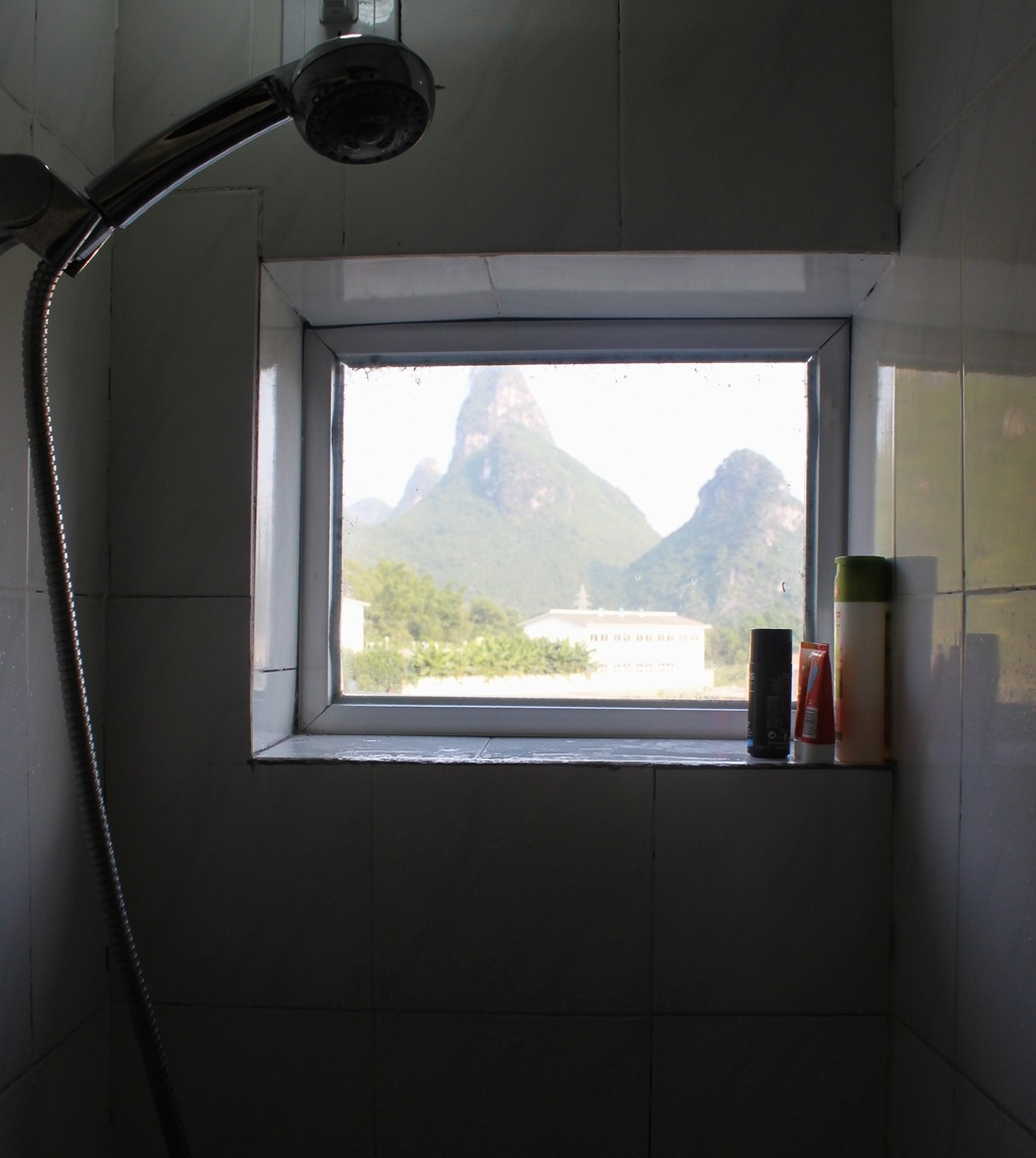Best Shower Panorama Ever Garden Hostel in Yangshuo