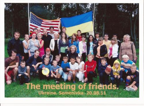 "Some of the participants in my first ""International Sports Weekend"" - including other Peace Corps Volunteers. It went wonderfully!(I'm the girl in the orange baseball cap.)"