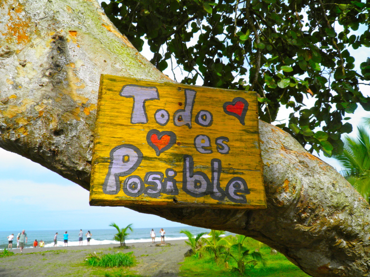 "thetravelowl:  ""Anything is Possible."" Outside of school house, Tortuguero, Costa Rica. August 3, 2011."