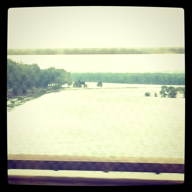 Blurry Missouri River.  (Taken with instagram)