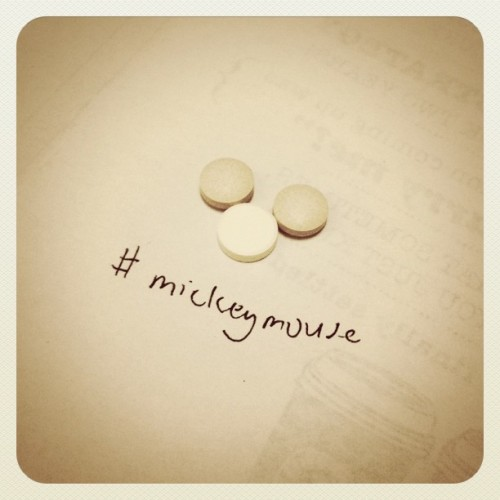 Playing with the #pills again. #medicine #mickeymouse  (Taken with instagram)