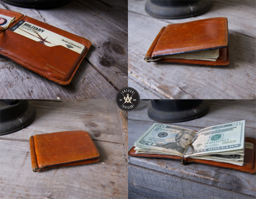 Vintage L'AIGLON Money-Clip wallet Happened to pick up a L'AIGLON French made cowhide wallet, Very vintage and the leather color darkened and worn look. Definitely one of my favorite wallets owned to date. Checking out their website it seems as though their new stuff doesn't have the same quality as it used to. (Don't hate me L'AIGLON) :)