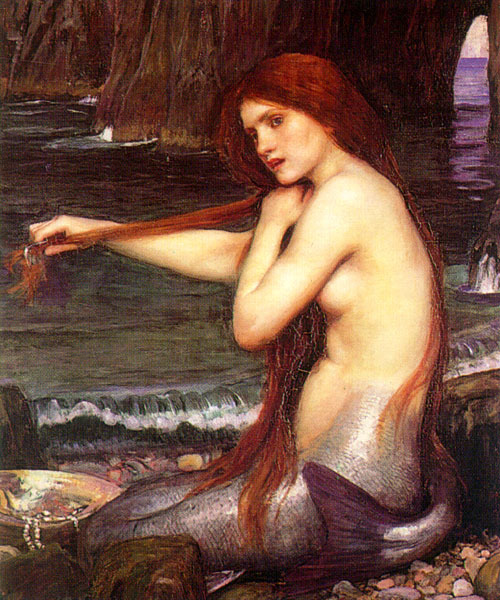 A Mermaid (1901) by John William Waterhouse
