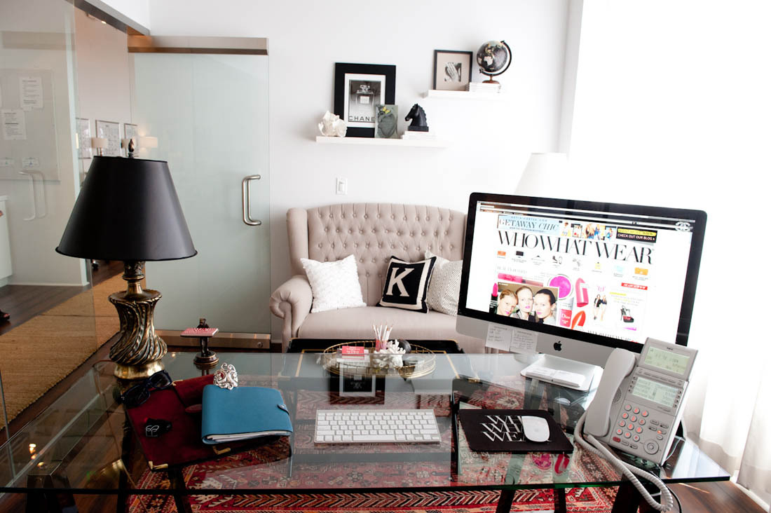 Love that we have the same desk! (via The Coveteur | Fashion Offices With WhoWhatWear)