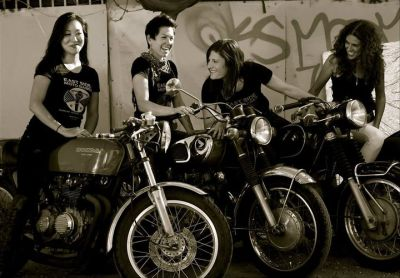 East Side Moto Babes. The fabulous four.