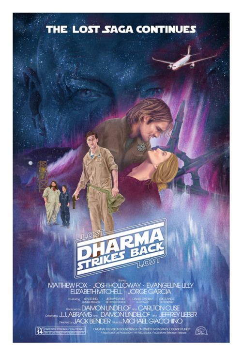 Dharma Strikes Back! (Locke edition) giclee print, ltd 200, signed/numbered, on sale 8/23 11am Pacific at lostincomics.com