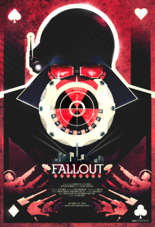 ron-guyatt:  Fallout New Vegas - Film Poster by Ron Guyatt Purchase my art at My Etsy Store Follow Me  Facebook Twitter Flickr Contact Me ronguyatt@hotmail.com Click the Picture for the Full Write-up or Visit my Deviant Art page.