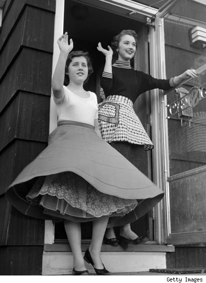 Mother and daughter, 1950s