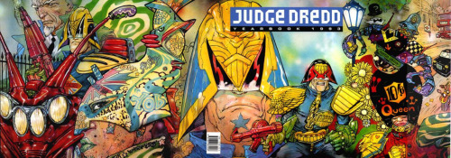 "More 2000 AD love from Broken Frontier:  Joe Dredd, lawman of Mega City in a future where the earth has been nuked and people reside in cities that grew to the size of the Eastern Seaboard, represents at his best a satirical outlook on today's world of Man (and Woman, Dredd is an equal justice dispenser, a perp is a perp). At his worst, it is a solid piece of straightforward hardcore sci-fi action. Dredd is civilization's drive for order personified, a natural force of man's need for organization, for equality for all driven to such an extreme height that the absurd trickles in on the edges and firmly plants the seed of satire. And here is the secret: it is all played with a straight face. Even Dredd's nickname is ""ol' stony face"". And what race of man exists that has given us the pure unadulterated glory of Monthy Python's Flying Circus, Spitting Image, Blackadder and That Was the Week that Was :the Brits of course, pip pip! A race of beings that, in the face of genocide will spit out 'Bad show, wot?' and light their pipe staring intently at the horizon, pondering whether or not tea time is right around the corner. As good old sir Winston Churchill has saidIt has been said that democracy is the worst form of government except all the others that have been tried. I'm sure Dredd would wholeheartedly agree."