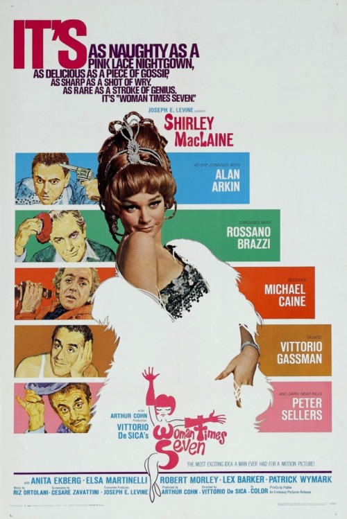 I watched this film mainly because of Shirley MacLaine, Peter Sellers and Michael Caine. (mainly Peter Sellers to be honest, haha). Anyway, it was nice, but a bit boring if you think that Peter Sellers was the man of the first story and Michael Caine was the man of the last story and of course Shirley played the 7 women. Decent.