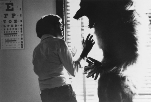 strangeink:  On the set of The Howling, 1981.