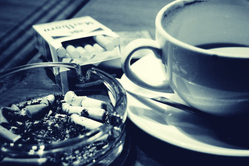 (via Coffee and cigarettes by ~Kukuruki on deviantART)