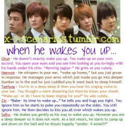 X-5 Scenario [51] When he wakes you up… Requested by nakamura-ayumu