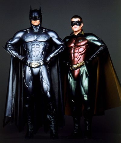 30 Day Movie Challenge Day 2: Least favourite film- Batman and Robin There are probably worse films somewhere but seriously this is pure mental torture. I mean come on look at those stupid shiny crotch exposing suits. You can see Robin's nipple for god's sake!!!! And George Clooney as the hero and Arnald Schwarzenegger as the villain??? Get real!!! x