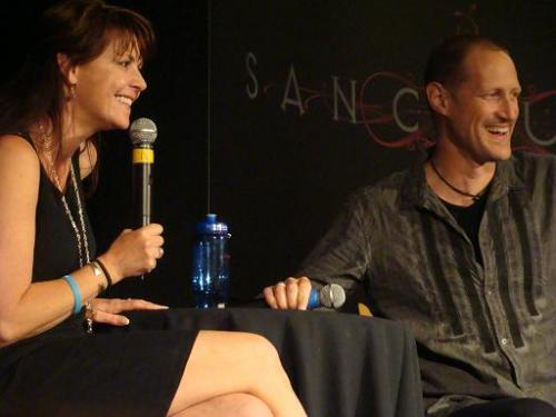 Amanda Tapping and Christopher Heyerdahl.  I can't wait for Dragon*Con!