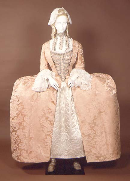 fripperiesandfobs:  Wedding dress ca. 1742-43 From the Manchester Art Gallery