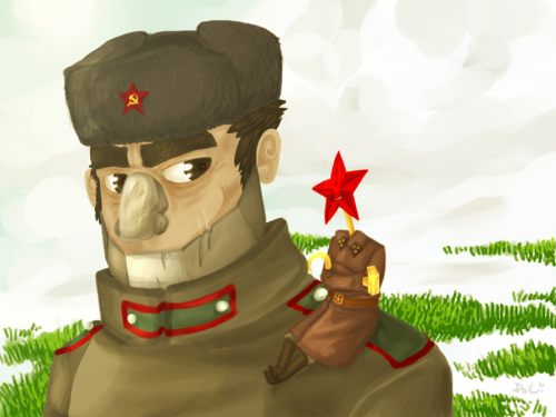 Vlad gets killed and Ivan is teamed up with a new commander, Iosef Zvezda. On this picture there's Iosef and Ivan sometime in year 1942 when the snow starts melting in Russia, when ever that is.