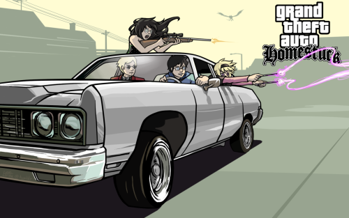 I needed a new desktop background, so I made this GTA Homestuck thing. You can download the fullsize 1920x1200 version here if you'd like to use it too. I vectored the car and background from the original GTA SA art.  Where are the GTA Homestuck mods, URGH. I want to go on rampages with Mindfang! >::::C