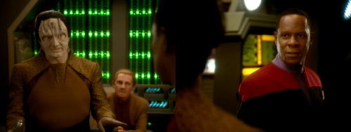 Garak: I'll go along on your fool's errand — but I want one thing to be perfectly clear. I have no intention of sacrificing my life to save yours. If it looks like we're in any danger of being captured, if there's any sign of trouble at all… you're on your own.Sisko: Mr. Garak, I believe that's the first completely honest thing you've ever said to me.