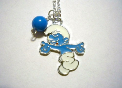Smurfy necklace