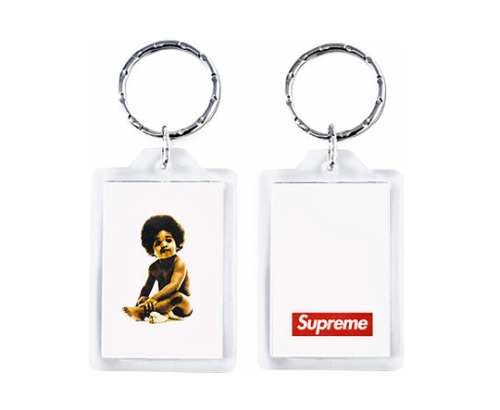 Supreme x Bad Boy Records Biggie Keychain