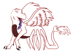 WIP of some creature someone else made. I WAS BORED AND NOW IM BORED OF DRAWING SO YEAH.