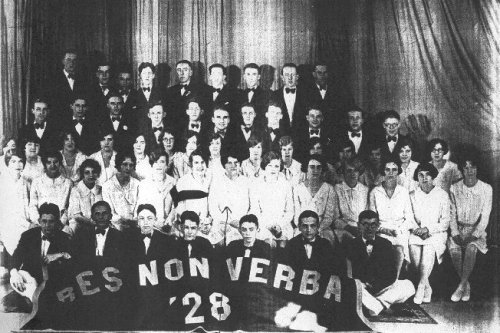 savevsdeath:  Johnstown (NY) High School, Class of 1928 Bes non verba (deeds, not words)