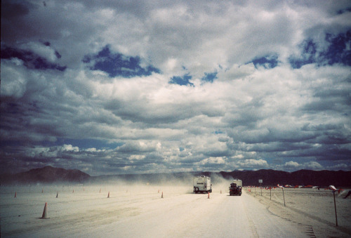 laurenlemon:  The drive out to Black Rock City, Burning Man 2010 ©Lauren Randolph