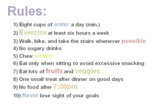 thinnerisbetter:  good rules to go by :)