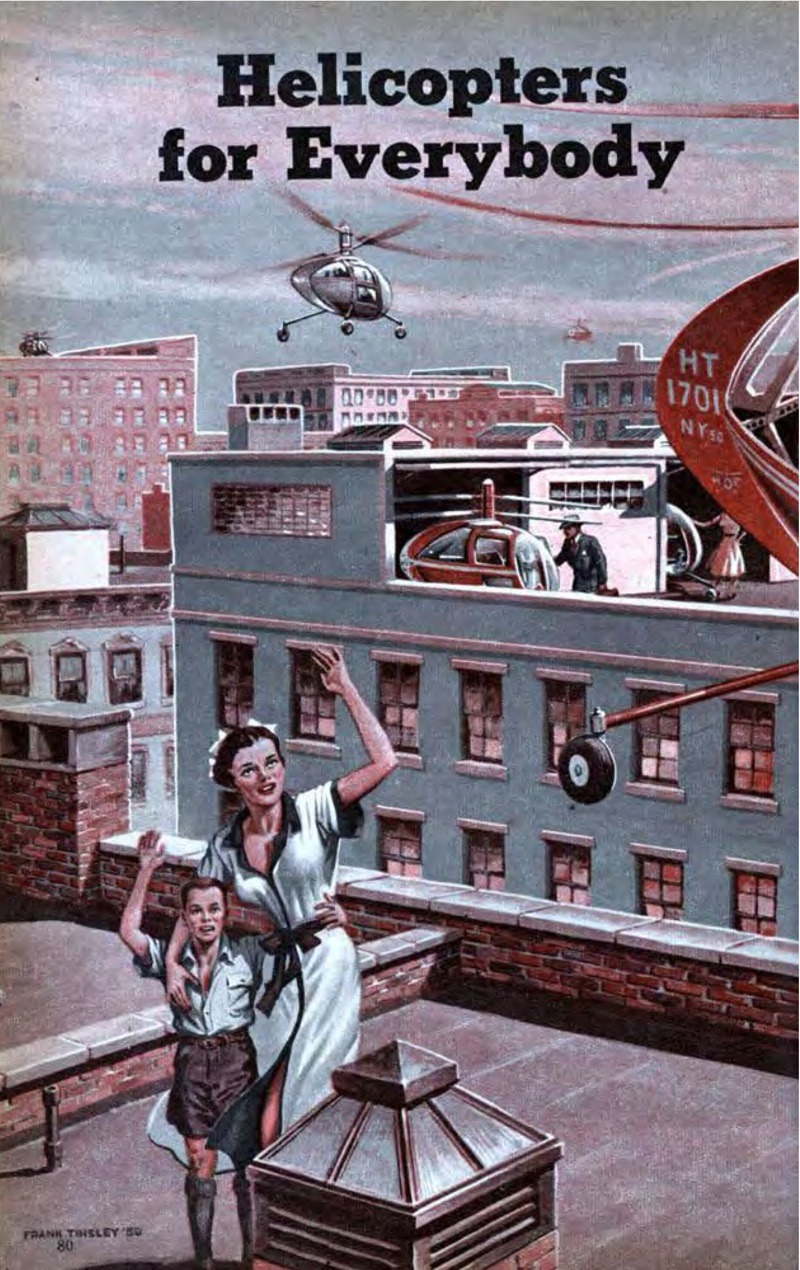 paleofuture:  Helicopters for Everybody (1950)