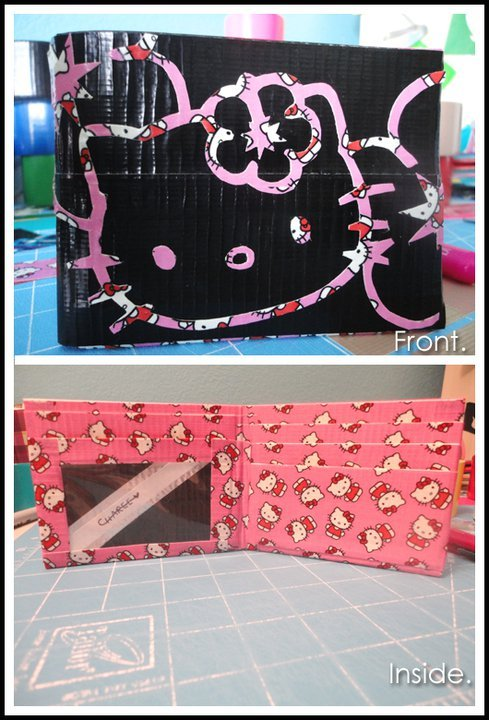 DIY Hello Kitty Duct Tape Wallet / chareexamor