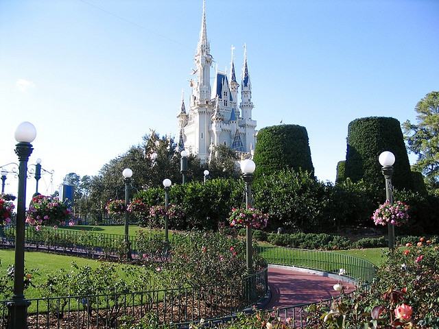 Cinderella Castle Garden by PrincessBuddha on Flickr.