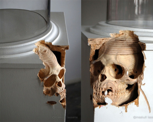 kingkwongkweenkwong:  Anatomical Sculptures by Maskull Lasserre. The fact that they are carved out of existing objects makes them seem so much more real, like they are appearing and being summoned into existence.