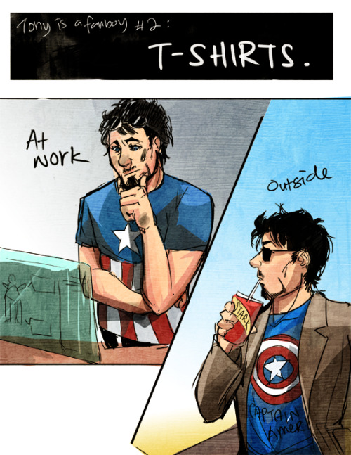 "ironfries:    ""Where did you even get these?"" ""JARVIS was really nice about it."""