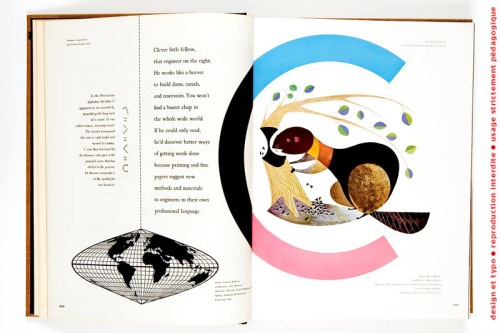 Spread from Westvaco: A Paper Manufacture 1956-61 (view many spreads via design et typo)