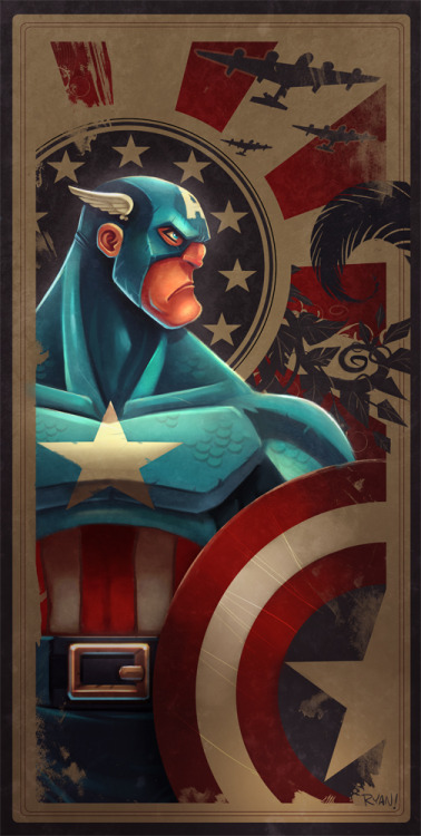 Ilustración | Captain America | Cool |